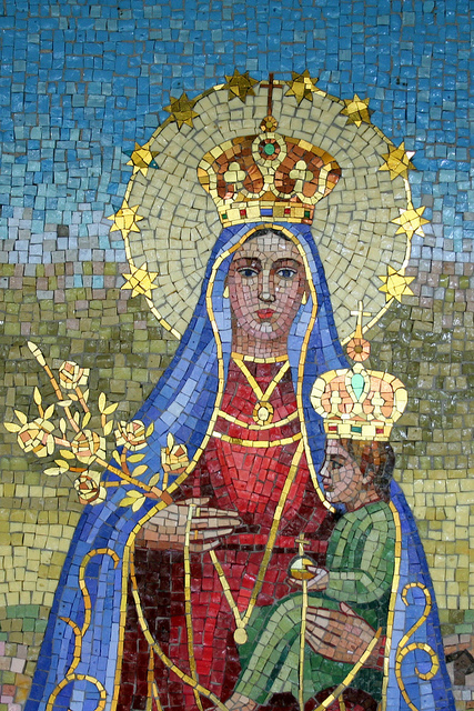 Mother Mary tile