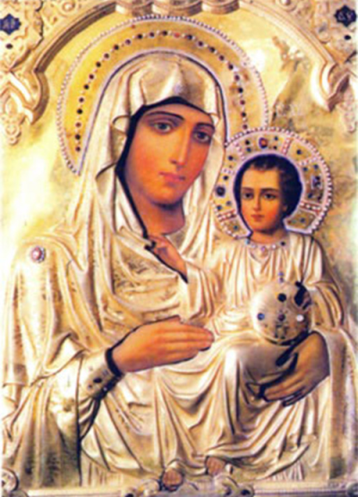Jesus Christ and His Mother, the Most Glorious Lady Theotokos
