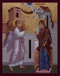 The Annunciation to the Theotokos by the Archangel Gabriel about the Birth of Jesus Christ